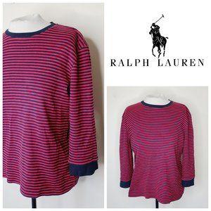 LR LAUREN 100% Cotton Striped Marina Sweater